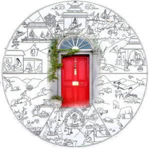 Wheel of Life scan 6 realms door
